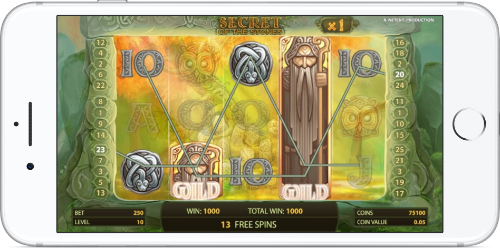 Secret of the Stones Free Spins Gameplay