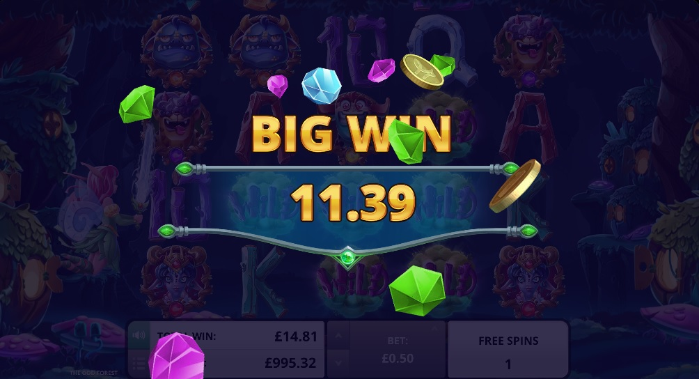 the odd forest mobile slot big win