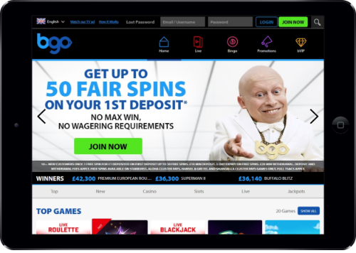 bgo casino tablet