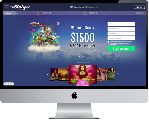 Sloty Casino on Desktop