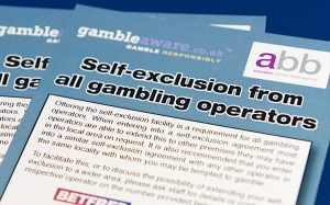 gamble aware self exclusion