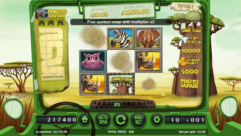 safari slot cascading reels