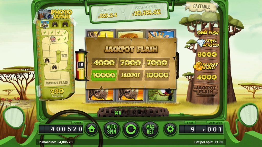 safari slot jackpot