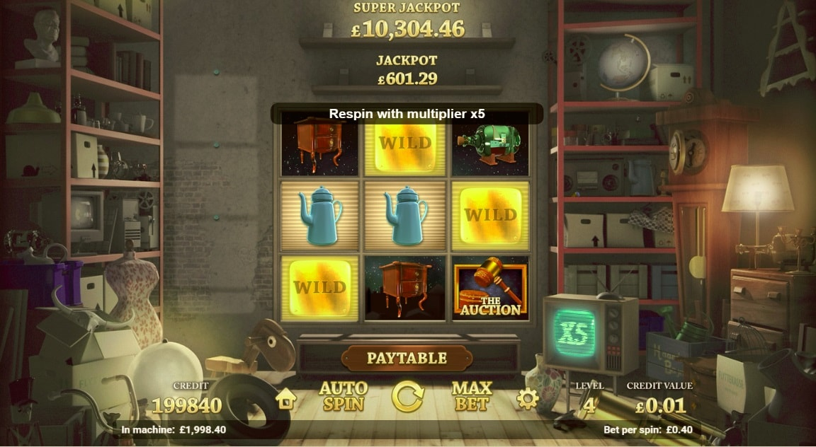Auction Day Slot Gameplay Screenshot