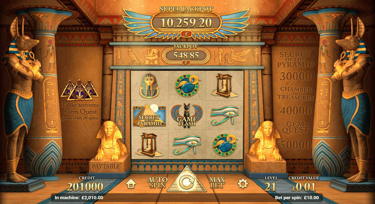 golden pyramid slot magnet gaming
