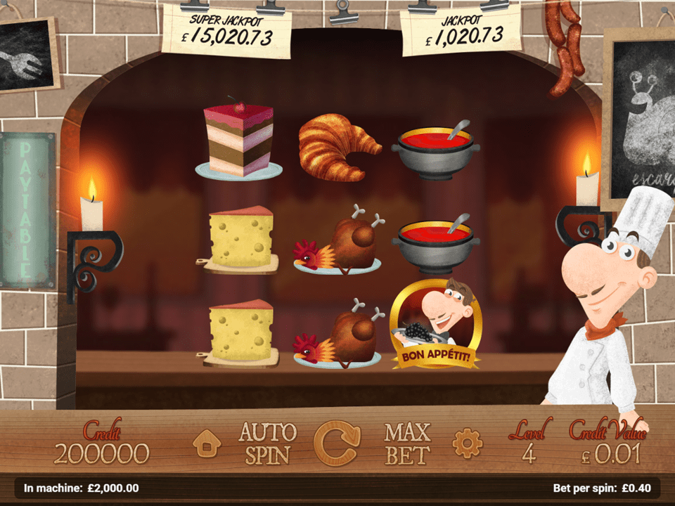 le chef slot main screen