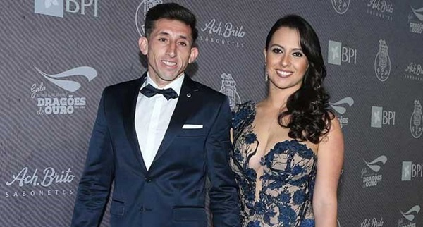 Hector Herrera and Chantal Mato