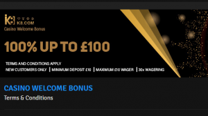 K8 Casino Welcome Bonus