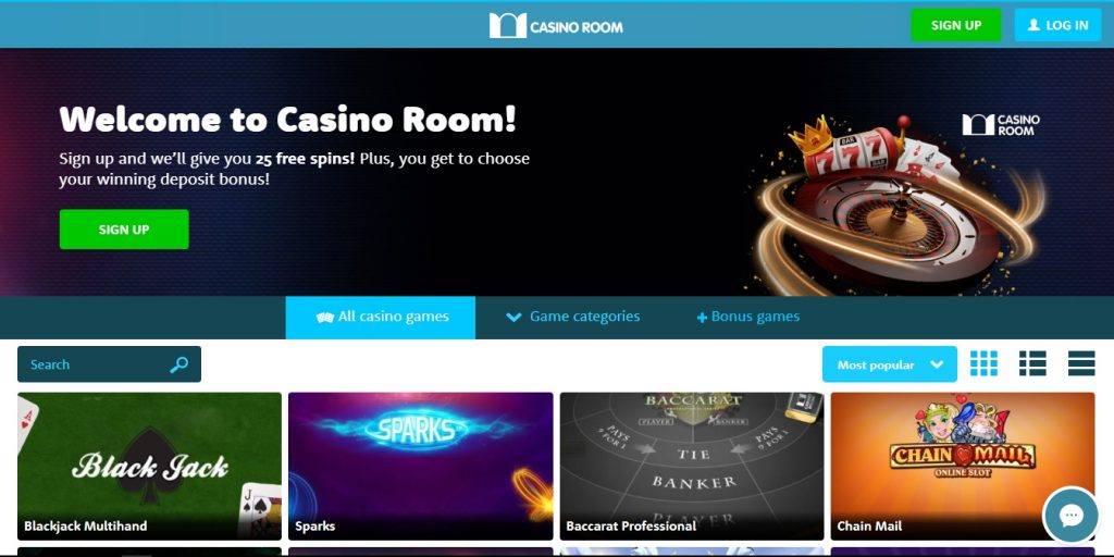Casino Room Home Page