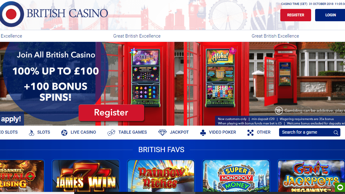 All British Casino Homepage