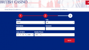 All British Casino Registration 2