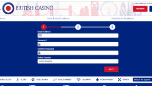 All British Casino Registration