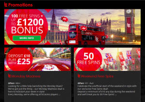 bCasino Promotions Page