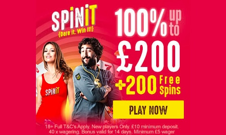 SpinIt Welcome Bonus
