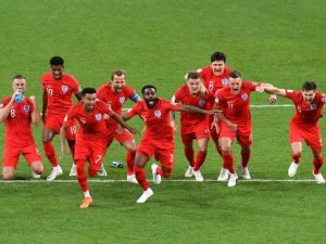 England Team Celebrating