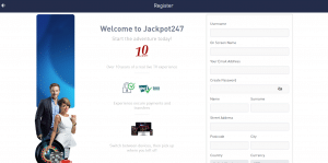 Jackpot147 Casino Registration Form