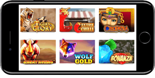 iPhone Slotsmillion Featured Slots Lobby