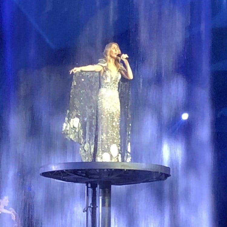celine dion performing at the colosseum