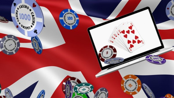 Casino on Laptop on Great British Flag