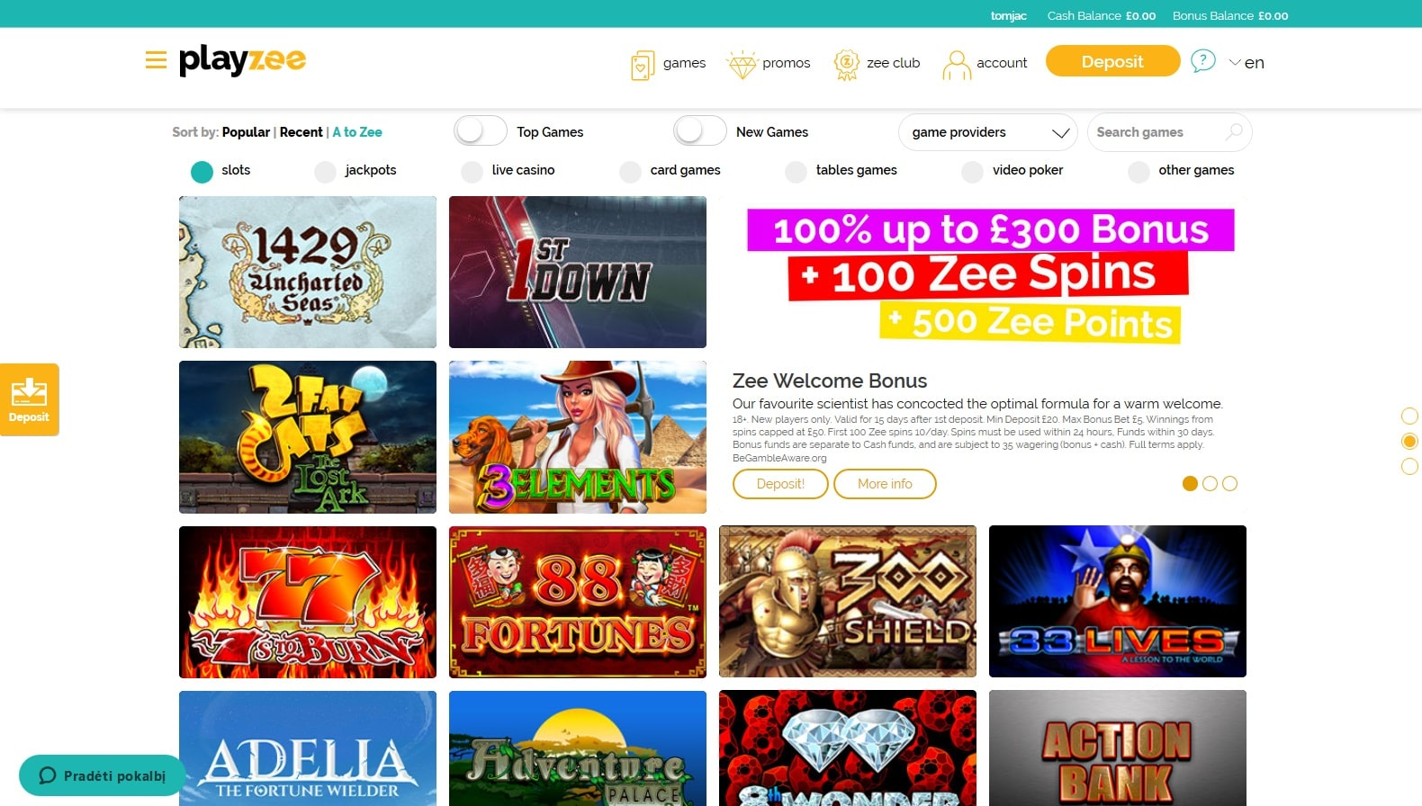 playzee casino games