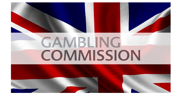 United Kindgom Gambling Comission Logo on Union Jack