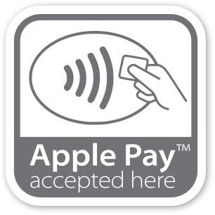 apple pay accepted here sticker