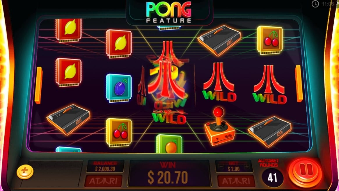 atari pong slot gameplay