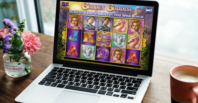 Golden Goddess Slot on Laptop