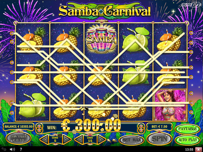 Samba Carnival Slot Play'n GO - Win