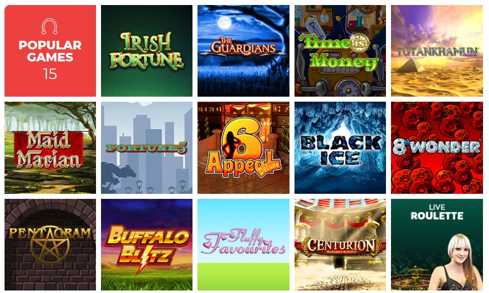 vegas luck popular games
