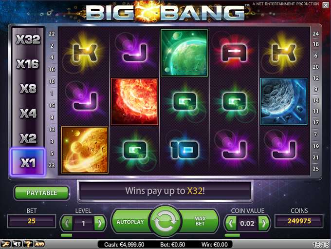 Big Bang Slot Gameplay