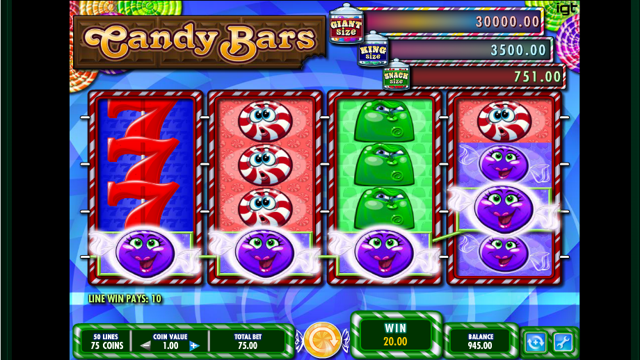 Candy Bars Slot Gameplay