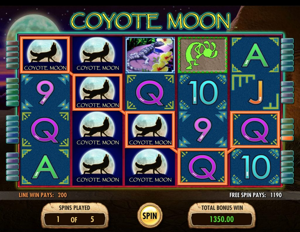 Coyote Moon Slot Gameplay