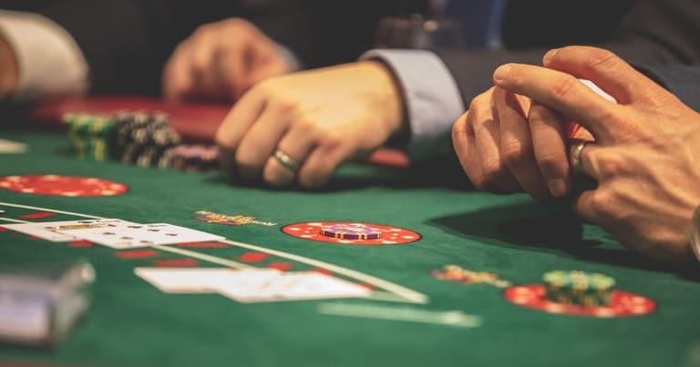 Players at Blackjack Table