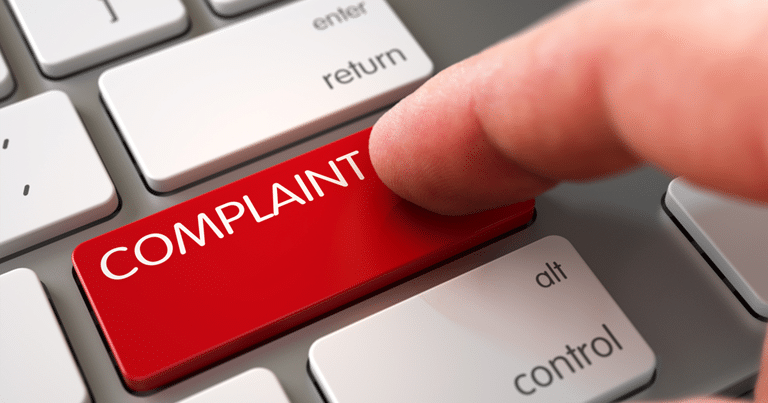 Complaints Button on Keyboard
