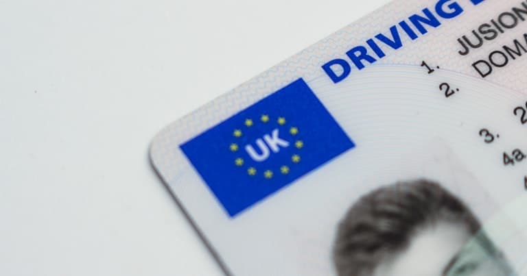 UK Drivers Licence Proof of ID