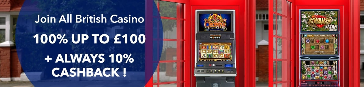 all british casino welcome offer banner