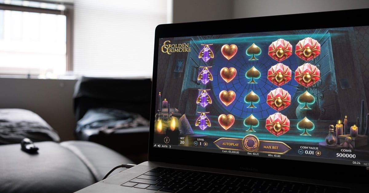 netent slot gameplay on laptop